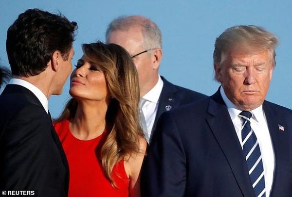Macron'un eşinin Trump'ı öpmesi G-7 zirvesine damga vuran kareler - Sayfa 4