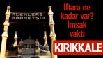 Kırıkkale iftar saatleri 2017 sahur ezan imsak vakti