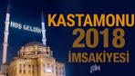 Kastamonu İmsakiye 2018 Diyanet sahur imsak vakti iftar saatleri