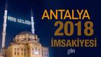 Antalya İmsakiye 2018 Diyanet sahur imsak vakti iftar saatleri