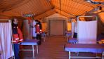 Suriye'nin sınırında Sahra Hastanesi kuruldu