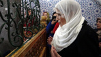 Erzurum'da Meral Akşener'in ilk durağı Abdurrahman Gazi Türbesi oldu