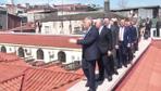 Binali Yıldırım, Kapalıçarşı çatısında restorasyonu inceledi!