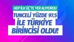 Tunceli vergi tahsilatında yüzde 97.5 oranla Türkiye birincisi oldu