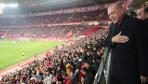 Cumhurbaşkanı Erdoğan, Türkiye-Moldova maçını izledi