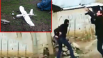 PKK'lıların gönderdiği drone böyle düşürüldü!