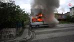 İçerenköy'de 2 servis ile 1 otomobilde yangın çıktı