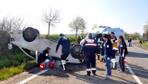 Pikniğe giden liselilerin otomobili takla attı: 1 ölü, 2 yaralı