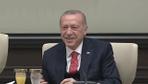Erdoğan'ın koltuğu devrettiği kabine revizyonu sorusuna gülümsetti