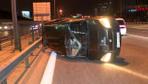 Kağıthane'de makas atarak kazaya neden olan sürücü durmayarak kaçtı
