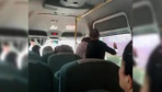 Mersin'de minibüsteki kadına şiddet kamerada