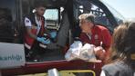 Zongudak'ta hava ambulansı 1 aylık Eflin bebek için havalandı