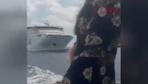 Feribot ile gemi çarpışacak sandı panikten suya atladı