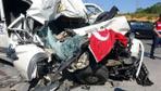 Kurnaköy'de feci kaza! Bu araçtan sağ salim çıktı