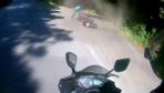 Sarıyer'de motosikletli gencin kazası kameralara böyle yansıdı