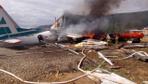 Rusya'da iniş yapan yolcu uçağı alev aldı! 2 ölü 22 yaralı