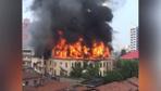 Çin'deki 100 yıllık tarihi otelde yangın