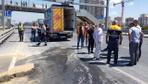D-100'de çökme: Ankara yönü trafiğe kapatıldı