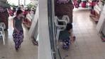 Hırsızlık için girdi tuvaletini yapıp çıktı