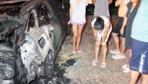 Bodrum'da lüks cipi yakıt deposundan havlu tutuşturup kundakladılar