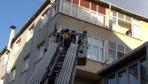 Oğluyla kavga ederken 5. kattan yan binanın çatısına düştü