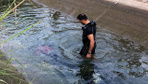 Serinlemek için kanala giren Suriyeli çocuk boğularak yaşamını yitirdi