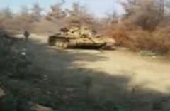 İşte ele geçirilen tankın görüntüsü