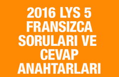 LYS Fransızca soruları ve cevapları 2016 ÖSYM ais