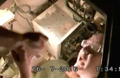 Tankın içinden çıkan FETÖ'cü polis müdürü coşmuş