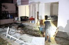 Helyum gazı patladı ev savaş alanına döndü