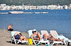 Marmaris'te pastırma yazı başladı! Turistler keyif yaptı