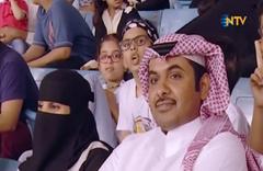 Kadınların stadyuma girmesine ilk kez izin verildi