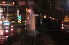 Sancaktepe'de caddede petrol fışkırdı