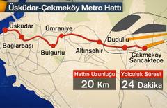 Üsküdar Ümraniye metrosu açılışı işte geçtiği 3 ilçedeki durakları