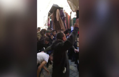 İsrail polisi Filistinli müslümanlara böyle saldırdı!