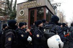Ankara Üniversitesi'nde ihraç protestosu