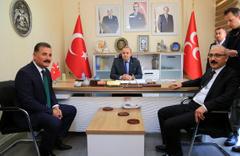 Bakan Elvan'dan MHP ilçe başkanlığına ziyaret