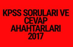 KPSS soruları ve cevap anahtarları 2017 ÖSYM ais'te