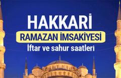 Hakkari Ramazan imsakiyesi 2017