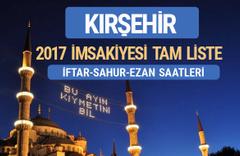 2017 İmsakiye Kırşehir iftar saatleri sahur ezan vakti