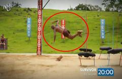Survivor ödül oyununda görünmez kaza! Anıl adeta uçtu...