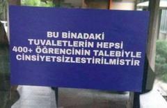 """ODTÜ'den """"cinsiyetsiz"""" tuvalet açıklaması"""