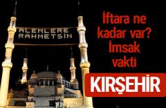 Kırşehir iftar saatleri 2017 sahur ezan imsak vakti