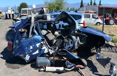 Tokat Erbaa'da korkunç kaza