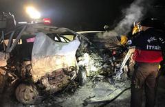 Ölüm yolunda yine kaza daha: Kurtulan olmadı!