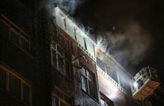 Kağıthane'de bina yangını