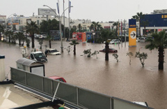 Bodrum'da felaket! Önce hortum sonra yağmur ve dolu vurdu
