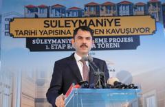 Süleymaniye'nin yenileme projesinin temeli atıldı