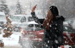 İzmir'in Ödemiş ilçesinde kar yağışı!