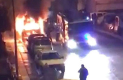 Ankara'da park halindeki kamyonet yandı